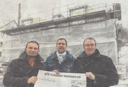Steinbau jetzt auch in Weinheim